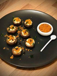 Μανιτάρια γεμιστά με τυρί κρέμα και τριμμένη φρυγανιά Griddle Pan, Grill Pan