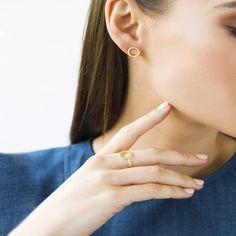 89dae4b20 Vermeil Designed by Jaimie Nicole Gold Hoop Earrings, Gold Hoops, Stud  Earrings,