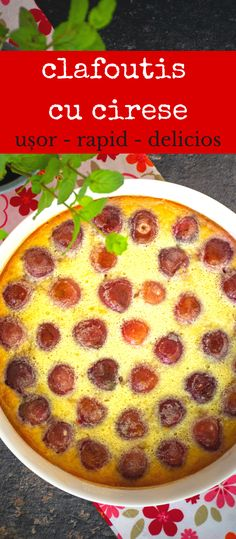 Clafoutis este, poate, cel mai ușor și mai rapid desert de vară. Se face dintr-un aluat ca cel de clătite, dar se coace la cuptor, nu în tigaie. Avem nevoie de doar câteva ingrediente și jumătate de oră de așteptare până să fie gata. #bucatearomate #retetacafoutis #clafoutis #clafoutiscucirese #cafoutisreteta #desert #prajituracucirese