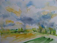 Landscape - Watercolour by Nadia Baumgart