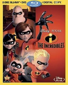 Incredibles, The (Blu-ray + DVD + Digital Copy) on Blu-ray from Disney / Buena Vista. Directed by Brad Bird. Staring Spencer Fox, Eli Fucile, Dominique Louis and Sarah Vowell. More Action, Family and Academy Award Winners DVDs available @ DVD Empire. Pixar Movies, Disney Movies, Disney Pixar, Walt Disney, Disney Stuff, Disney Characters, Wallace Shawn, Brad Bird, Disney Blu Ray