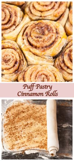 These puff pastry cinnamon rolls are quite possibly the speediest cinnamon bun recipe you will see! These puff pastry cinnamon rolls are quite possibly the speediest cinnamon bun recipe you will see! Quick Cinnamon Rolls, Cinnamon Bun Recipe, Quick Rolls, Cinnamon Rolls Puff Pastry, Köstliche Desserts, Delicious Desserts, Dessert Recipes, Recipes Dinner, Sweet Recipes