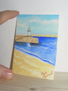 ACEO original watercolour painting/Pier St by MariesArtyCreations