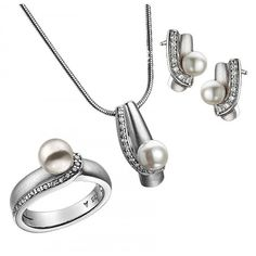 925 Sterling Silver Set with Ring Necklace and by KANTILAKI
