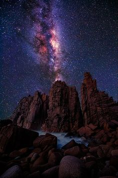 MIlky Way over Phillip Island, Victoria, Australia