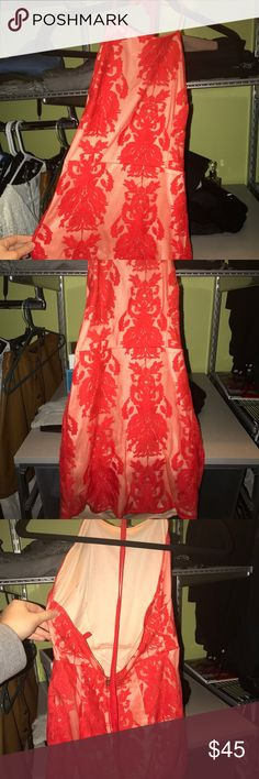 red tight lace dress bodycon never worn, tried on couple times but never actually worn. perfect for homecoming or just a cute going out dress. PRICE NEGOTIABLE Dresses Mini