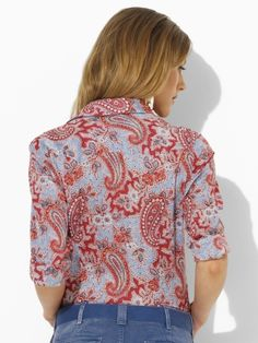 Retro paisley printed western style shirt by Ralph Lauren. I dig it :)