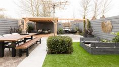 Small Backyard Gardens, Backyard Patio Designs, Backyard Landscaping, Interior Garden, Outdoor Living, Outdoor Decor, Garden Inspiration, Exterior Design, Pergola