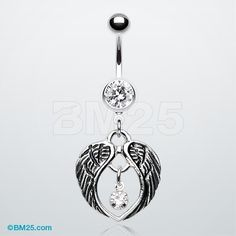 The Fallen Angel Wing Belly Button Ring