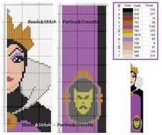 Cross stitch chart Disney Villain Evil Queen / wicked stepmother bookmark (snow white )