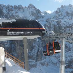 Impianti Val Gardena, cabinovia Dantercepies a Selva di Val Gardena