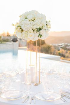 LA Dodgers DJ Peters' Wedding Is A Home Run Tall Wedding Centerpieces, Destination Wedding Inspiration, Dodgers, Dj, Place Card Holders, Table Decorations, Running, Linens, Home