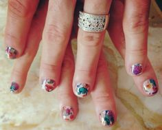 Midway Floral nail wraps by Jamberry Nails