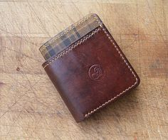 Handmade Brown Leather Wallet Brown Leather Wallet