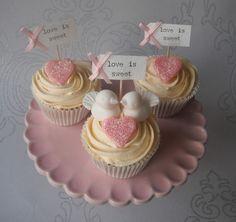 Sugar Ruffles, Elegant Wedding Cakes. Barrow in Furness and the Lake District, Cumbria: 'Love Birds' Cupcakes