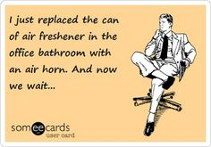 """""""I just replaced the can of air freshener..."""""""