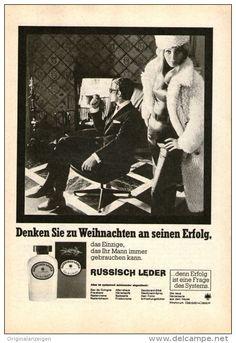 Original-Werbung/ Anzeige 1968 - RUSSISCH - LEDER EAU DE COLOGNE / AFTER SHAVE HERRENSERIE - ca. 120 x 170 m