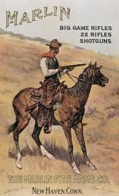 MARLIN Rifle Shotguns Gun Vintage Cowboy Horse Big Game Rifles Tin Sign USA