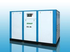 DENAIR Standard Oil-injected Screw Air Compressor Model: DA-90/DA-90W Working Pressure(Mpa): 0.75 Air Delivery(m3/min): 16.6 Voltage and IP Grade: 380V IP54 Starting Method: Direct Driven Noise: 72±2 Dimensions LxWxH(mm): 2150x1300x1550 Weight(kg): 1900 Outlet Pipe Diameter: DN50 Inlet and Outlet Pipe Diameter of Water-cooled Water Chillers: G1-1/4 Cooling Water Volume of Water-cooled Water Chillers(T/H): 7 EEI: EEI2