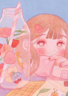 Pin by daisy on art inspo in 2019 искусство ужасов, акварель Arte Do Kawaii, Kawaii Art, Kawaii Anime, Wallpapers Kawaii, Kawaii Wallpaper, Art And Illustration, Illustrations, Art Anime, Anime Art Girl