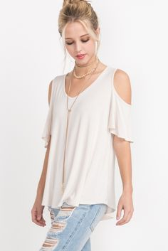 One of out hottest new styles: [product_title]!  can be yours at http://shopbvchic.com/products/cold-shoulder-v-neck-top-1?utm_campaign=social_autopilot&utm_source=pin&utm_medium=pin #boutiqueshopping #musthave #bvchic