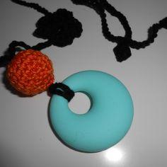 Hordozós nyaklánc - rágcsalánc, Ékszer, óra, Baba-mama-gyerek, Játék, Nyaklánc, Meska Baba, Teething Necklace, Crochet Earrings, Necklaces, Diy, Products, Bricolage, Chain, Diys