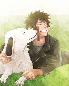 Kiba and his dog Akamaru (best sidekick/ friend)