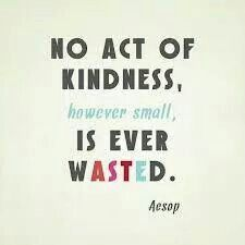 kindess is never wasted