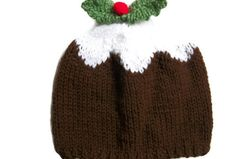 Christmas pudding hat Baby Child Adult by thekittensmittensuk Xmas Pudding, Christmas Pudding, Knit Hat For Men, Hats For Men, Hand Knitting, Knitting Patterns, Beanie, Baby Hands, Knitting Accessories