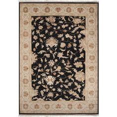 Alexandria Plush Pile L 156 X W 108 Rectangle Wool Rug ALE-2704