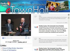 Pinellas County e-Town Hall achieved interaction from over 1,500 participants participating through streaming video, phone, social media, etc.