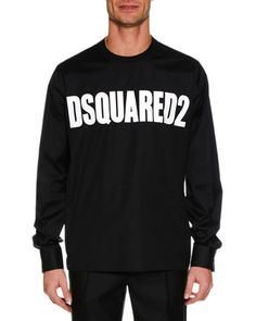 7c7a455ea2c Dsquared2 Men s Logo Graphic Long-Sleeve T-Shirt Men Logo