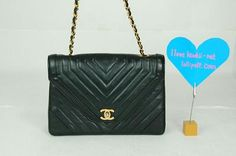 $749 Pre-owned Authentic Black Lambskin Chanel Flap Bag!