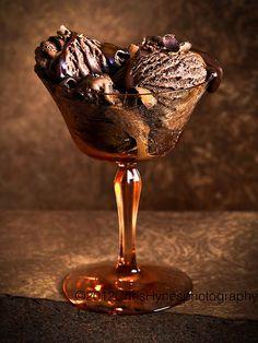 Dark chocolate ice cream by hynesghpstudio, via Flickr