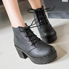 Platform Heel Ankle Boots from #YesStyle <3 Zandy Shoes YesStyle.com