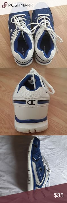 Champion Shoe Mens Athletic Shoe Blue, white, and black (Still new) CONDITION: worn once Champion Shoes Athletic Shoes