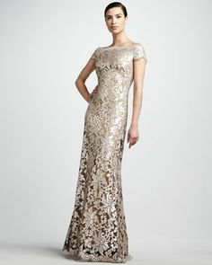 "Scalloped Lace Gown by Tadashi Shoji at Neiman Marcus. for the Mother of the Bride "" ME "" ! :)"