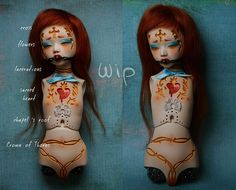 Painful Pleasures, WIP xx2 by jade.citronrouge - Flickr. Gorgeous details on this BJD.