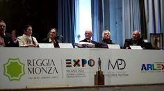 Presentazione del Premio ARLEX al Teatrino di corte della Reggia di Monza con il Direttore Lorenzo Lamperti Carla Fracci, Dolores Puthod, Enrico Intra, Ferruccio Soleri
