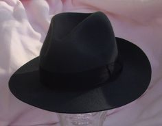 Charcoal grey vintage Fedora Hat men small