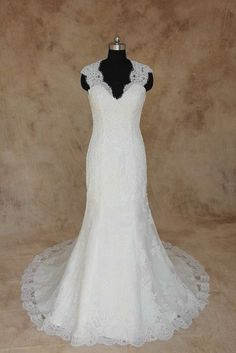 Style #BA06-289 Beaded Lace Wedding Dress with wide shoulder straps