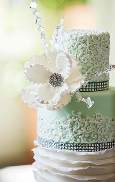 Bride And Grooms Cake In One Wedding By Confectionate Cakes Raleigh NC