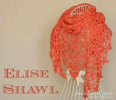 Summer shawl - pontinhos ao vento: Coral