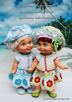 PDF Doll Clothes Crochet Pattern by KasatkaDollsFashions on Etsy