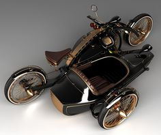 "Amazing 3 Wheelers - #searchlocated - Steampunk Chopper ""Black Widow"" in production"