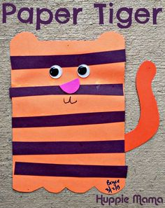 Paper Tiger Preschool Craft