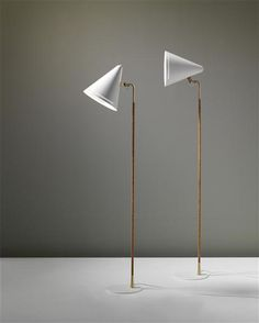 Paavo Tynell, Standard Lamps for Taito Oy, 1940s.