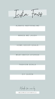Instagram favorites story template. Fill in the blank.