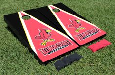 Our Illinois State University ISU Redbirds Cornhole Game Set Red Triangle Wooden. Get your custom set at victorytailgate.com