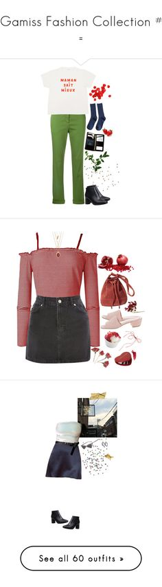 """""""= Gamiss Fashion Collection #1 ="""" by lsaroskyl ❤ liked on Polyvore featuring MARC CAIN, Royce Leather, Topshop, Maryam Nassir Zadeh, Marc Jacobs, By Terry, Madewell, H&M, ASOS and The Row"""